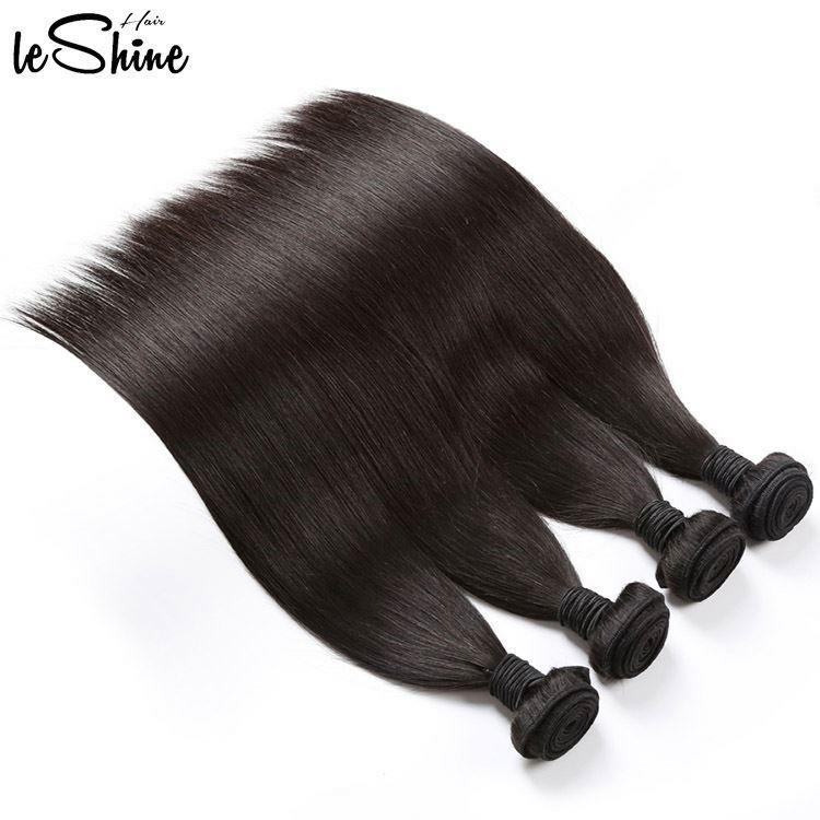 100% Cuticle Aligned Braid In Brazilian Straight Human Hair Weave Bundles фото