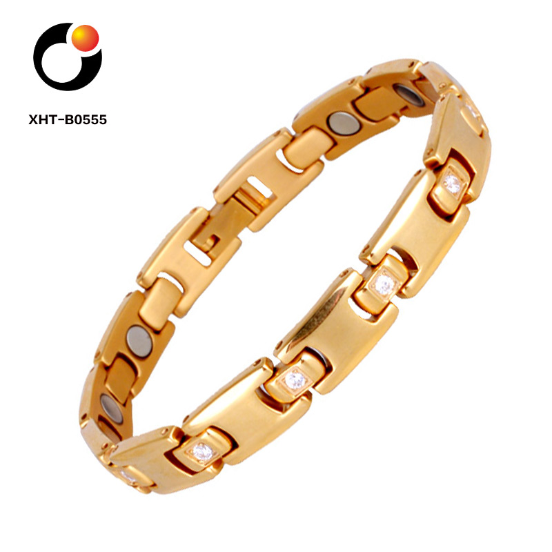 Stock Products Elegant Style Titanium Magnetic Therapy Bracelet For Pain