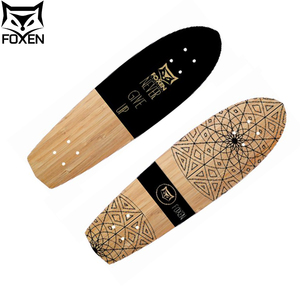 Foxen brand can custom 100% canadian maple long board deck, 2019 hot sale four wheel blank high quality decks for sale