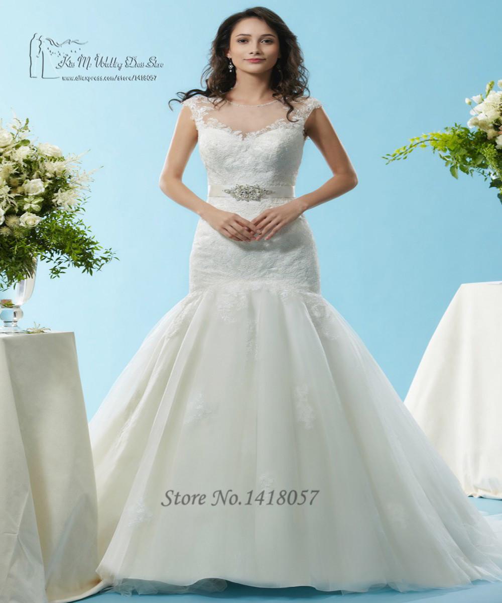 Aliexpress Com Buy Elegant Flare Sleeve Wedding Dress: Aliexpress.com : Buy 2016 Elegant Mermaid Wedding Dresses