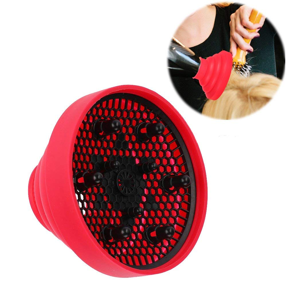 Hairdryer Diffuser, New Silicone Folding Hairdryer Hair Blower Diffuser Cover Styling Hairdressing Tool for Curly or Wavy Hair