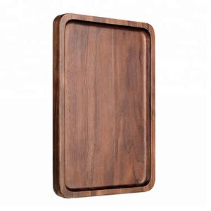 wooden tray for restaurant service equipment