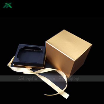 luxury gold candle packaging box with paperboard insert