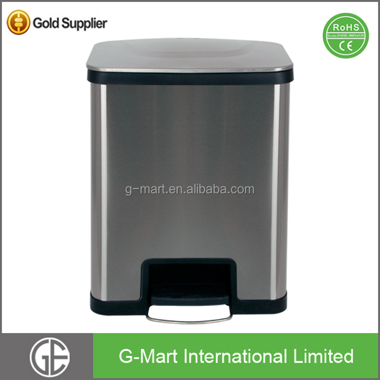 Eco-Friendly Feature Rectangular Touchless Electronic Waste Bin Sensor Trash Cans