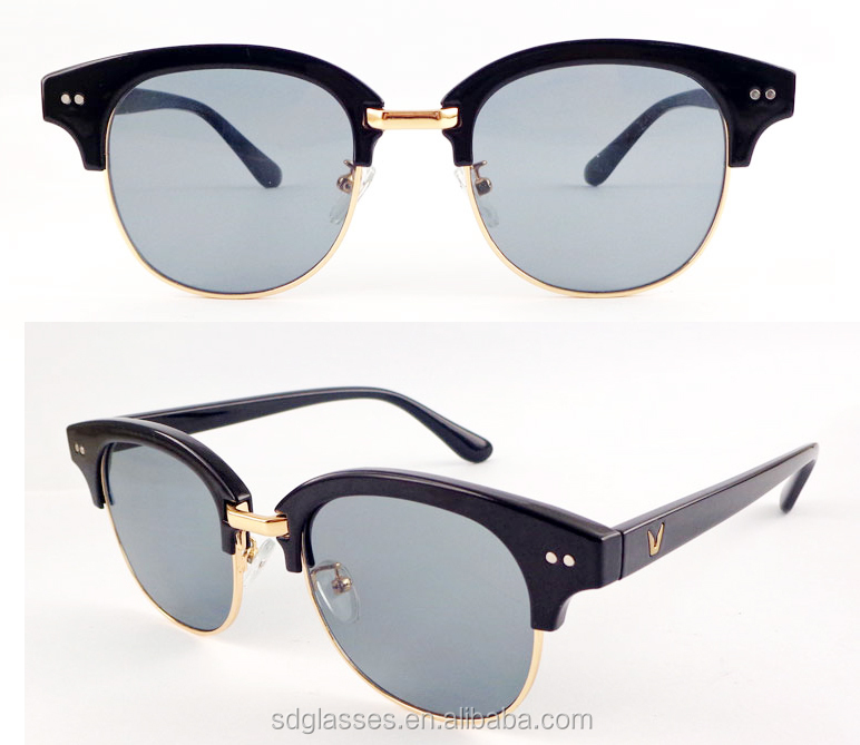 b680044612 Oro semi rimless múltiples colores china por mayor moda polarizadas UV400  retro gafas de