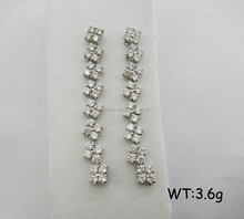 SE0521 New Arrival White Gold Plated Copper Long Jewelry Earrings