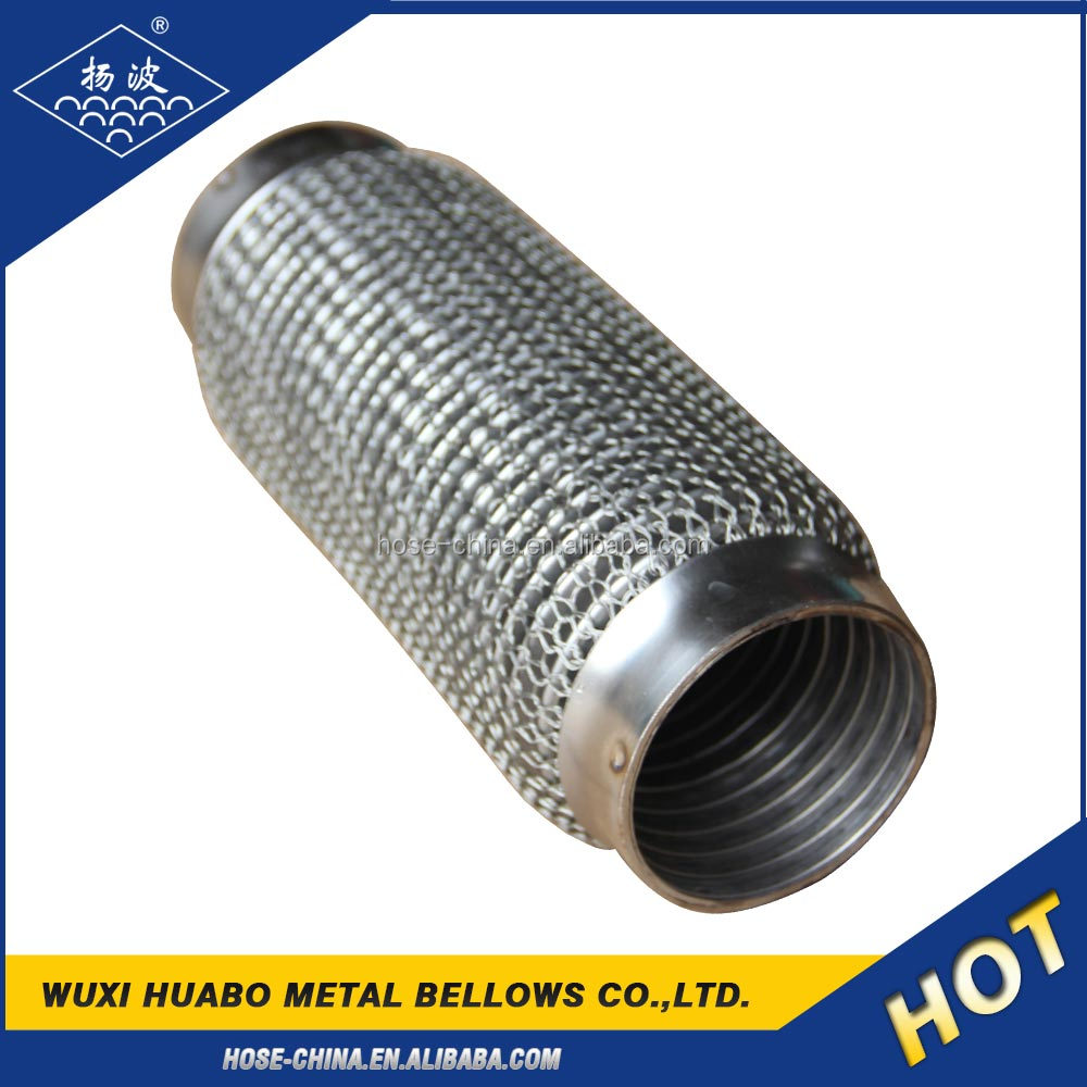 Flexible car bellow for exhaust system