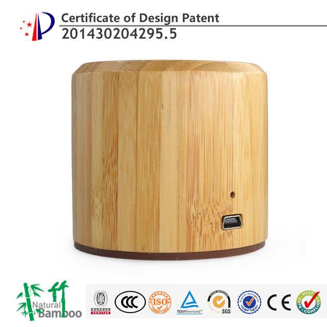 2017 trending product natural bamboo wireless mini wooden speaker portable mini wooden speaker