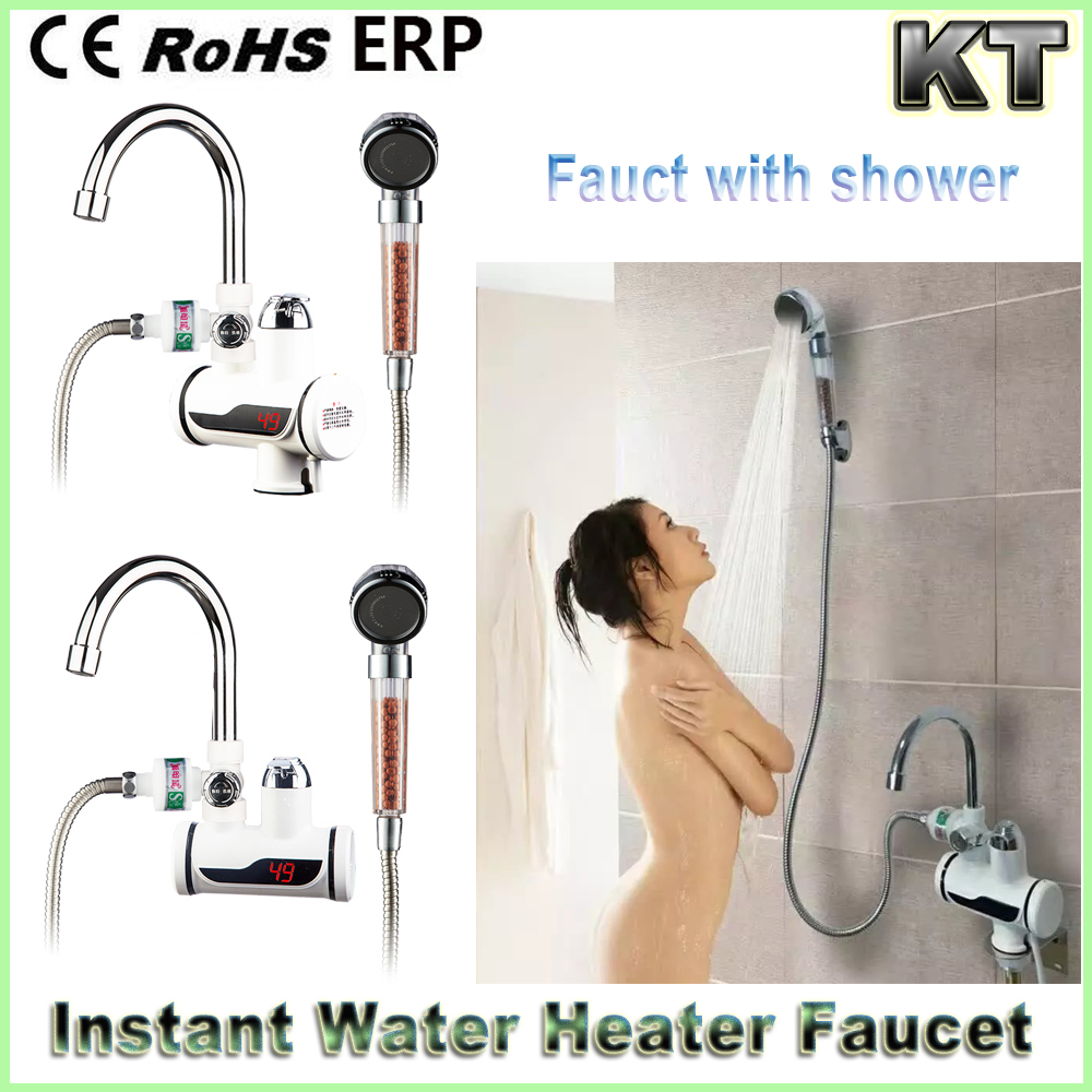 Instant Electric Shower Water Heater Instant Hot Faucet Kitchen Electric Tap