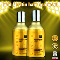 High quality hair care product gold keratin treatment repair damage treated hair, OEM/ODM private label accepted