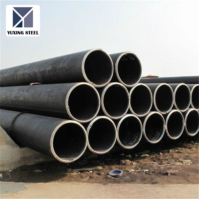 LSAW welded round steel pipe / tube for building material