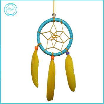 40 Latest Design Home Hanging Decorative Blue Dream Catcher Yellow Impressive Is Dream Catcher Real
