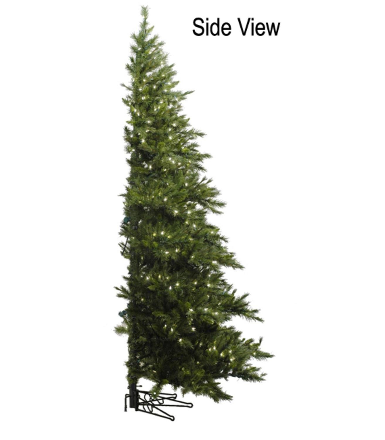 6.5' Pre-Lit Westbrook Pine Artificial Half Wall Christmas Tree - Clear Lights