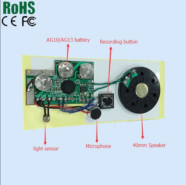 Pre recording and recordable music greeting card sound module or pre recording and recordable music greeting card sound module or mini voice recorder chip m4hsunfo