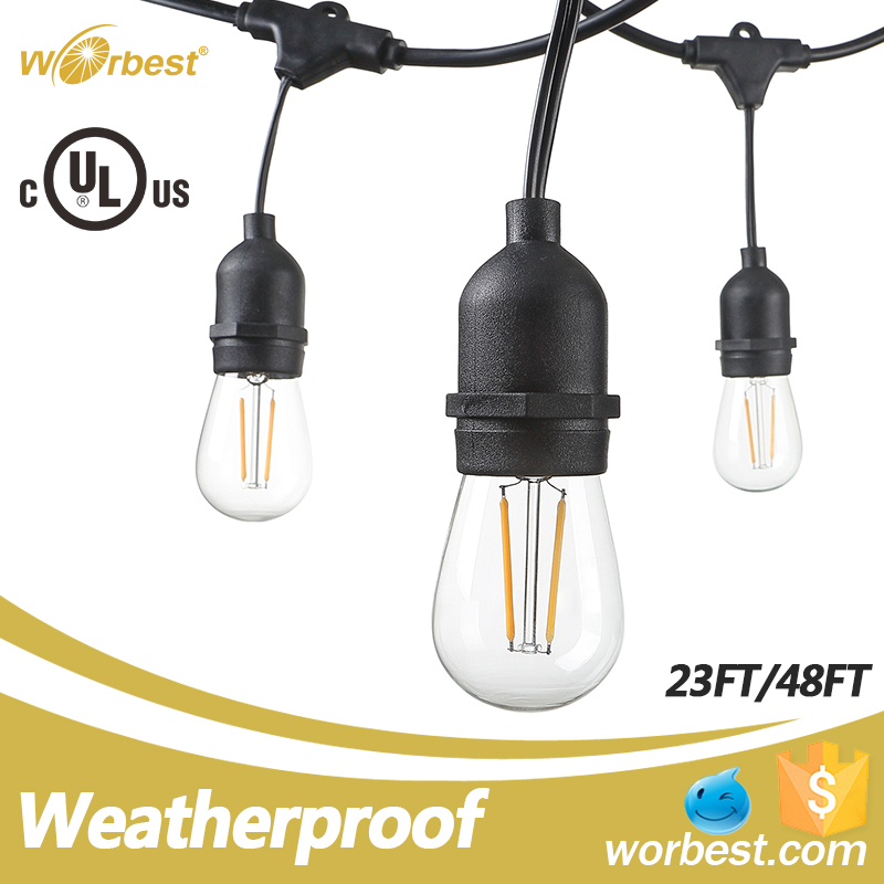 Worbest Lights Product Decorative Ambience Festival String Lights Indoor or Outdoor Weatherproof & Fireproof & Insulation