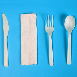 Eco-friendly Biodegradable PLA Compostable Cutlery Forks Spoons Knives Sets Made from Cornstarch