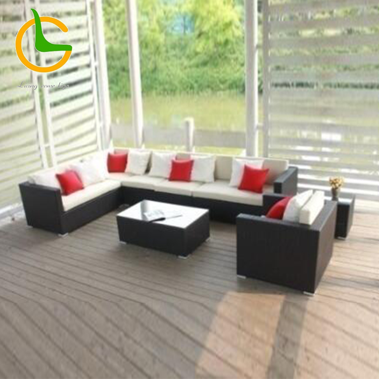 Popular Hot Selling Cheap modern competitive price High quality outdoor rope woven garden sofa