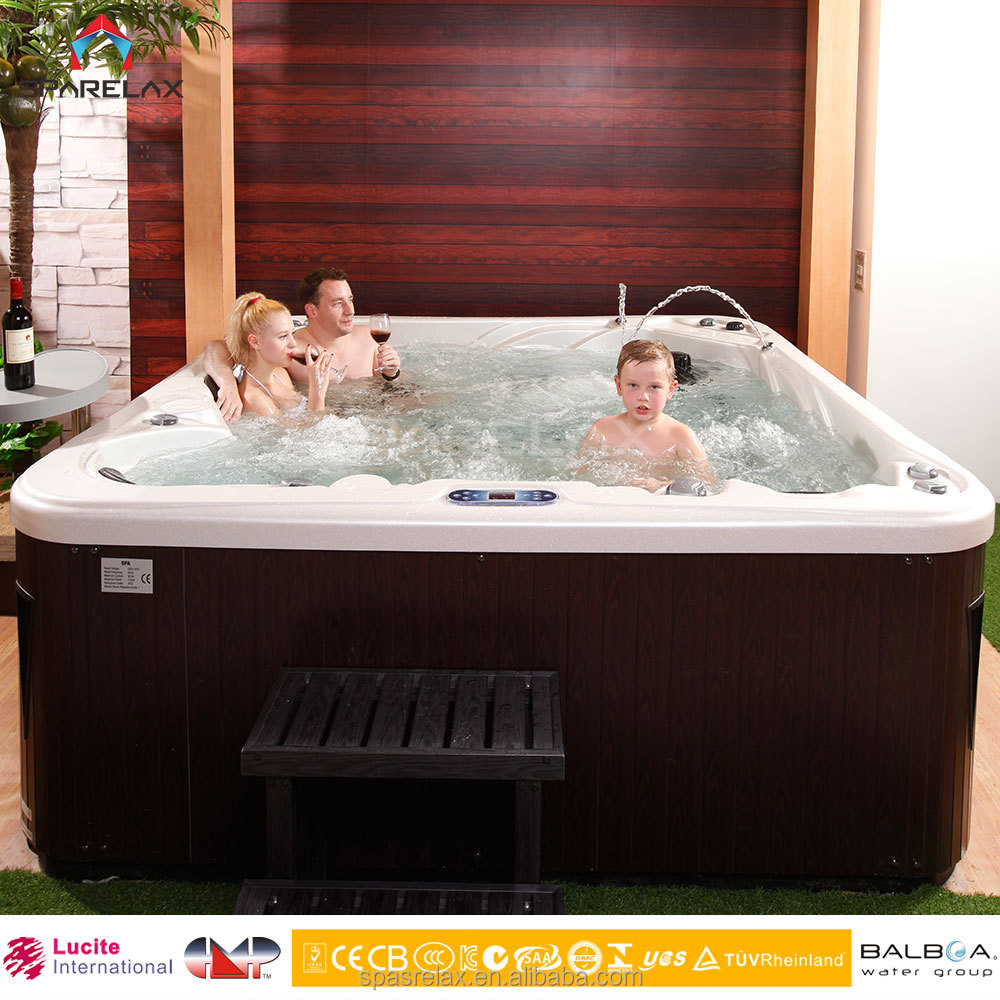 Fashion and Deluxe Outdoor Massage Spa/Bathtubs /Jacuzzy with LED lights with 82 Jets -A521