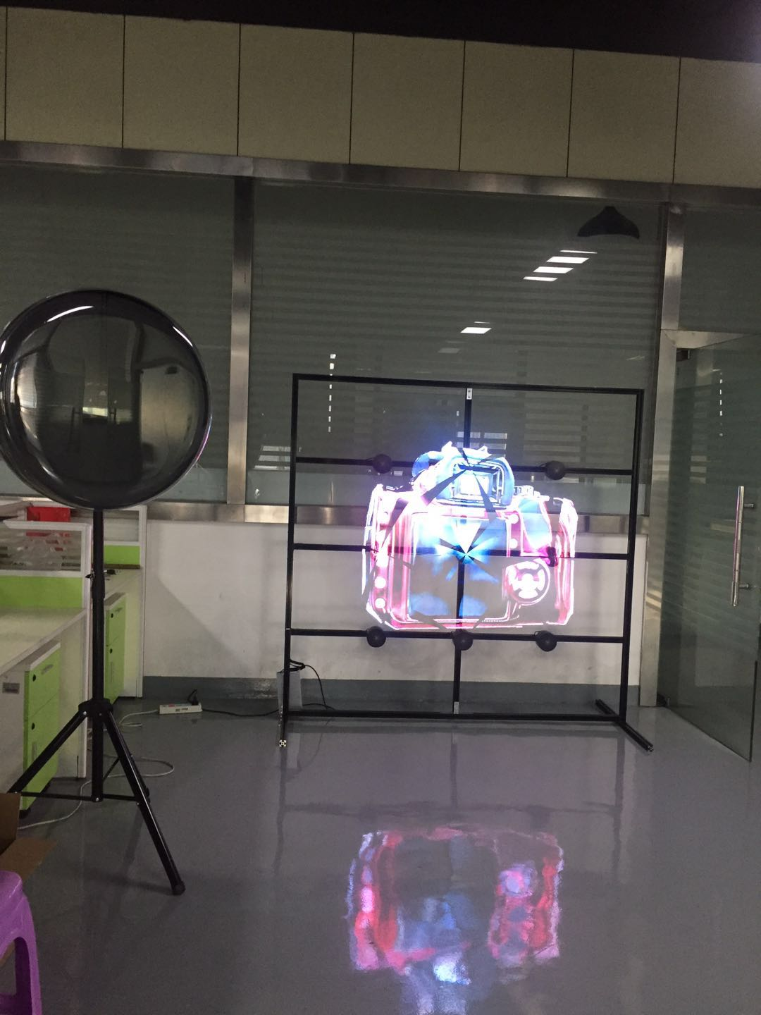High resolution 65cm 3d hologram projector hologram fan wifi APP control 3d hologram