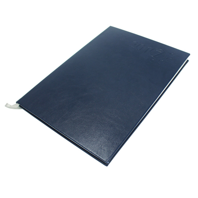 Professional Black Color PU Leather Customized Notebook