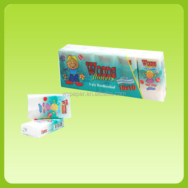 Promotion Factory price custom printed 10 sheets /bag pocket tissue