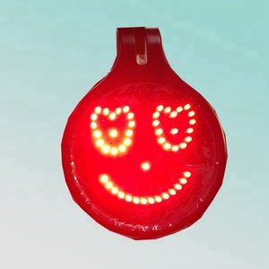 remote control 5pcs emotions led smile sign for car