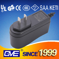GVE UL GS CE Wall type black 5.5v 2a ac dc power adapter for modem