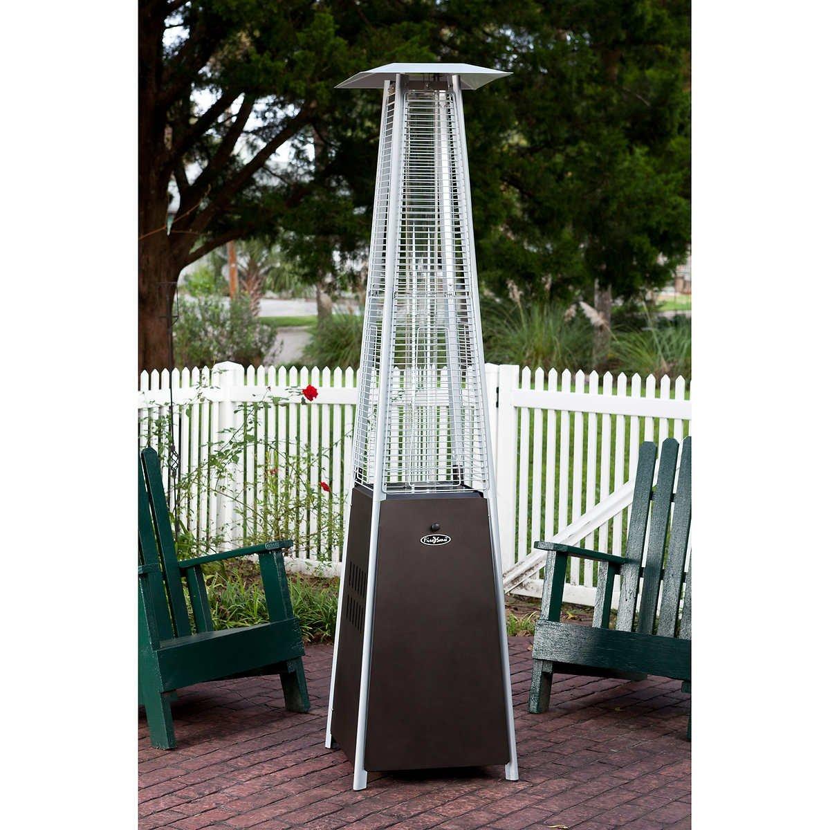 Get Quotations · Mocha Pyramid Flame 40,000 BTU Patio Heater
