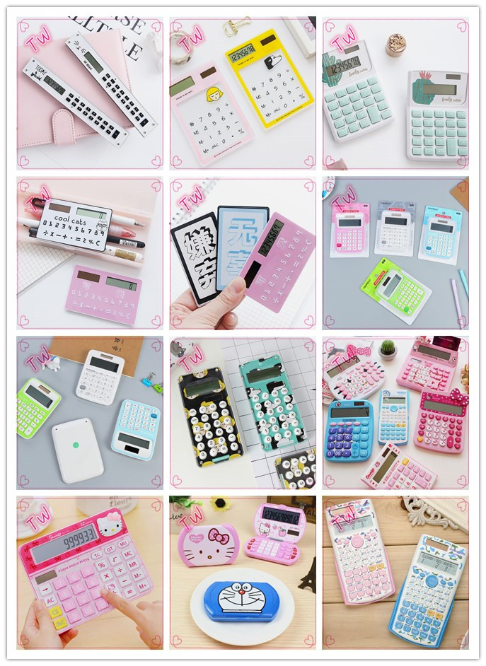 Korean office supplies and stationery hot selling cheap 8 digits mini calculator