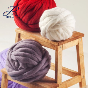 Bojay Top Sales Hand Knitting Wholesale Merino wool balls for knit blankets, pillows and carpets 21 micron