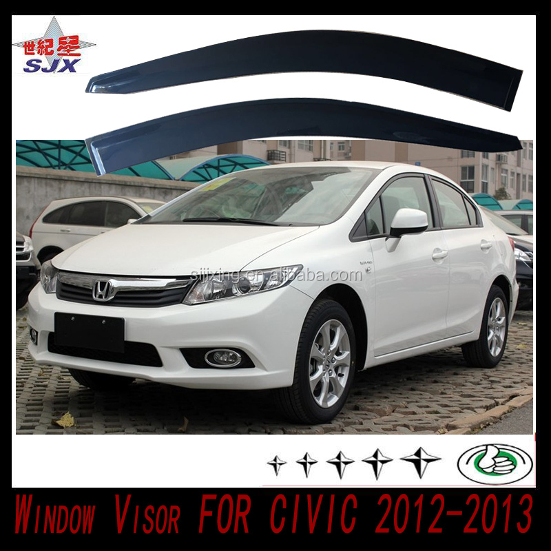 Window visor for civic 2012-2013 welcome customize factory supply directly