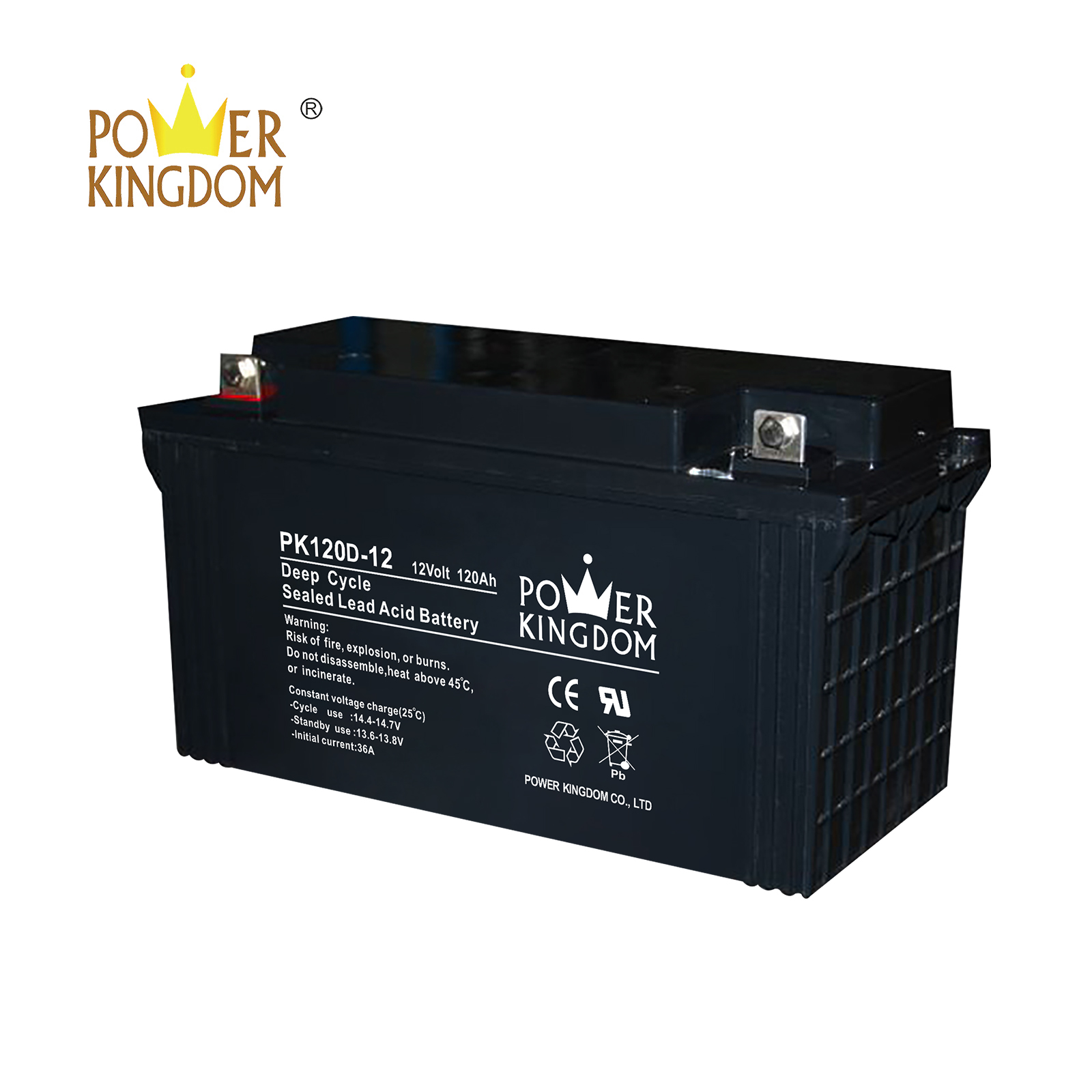 Power Kingdom no electrolyte leakage high amp hour marine battery manufacturers wind power systems