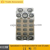 soft rubber mobile phone function keypad rubber dome keyboard