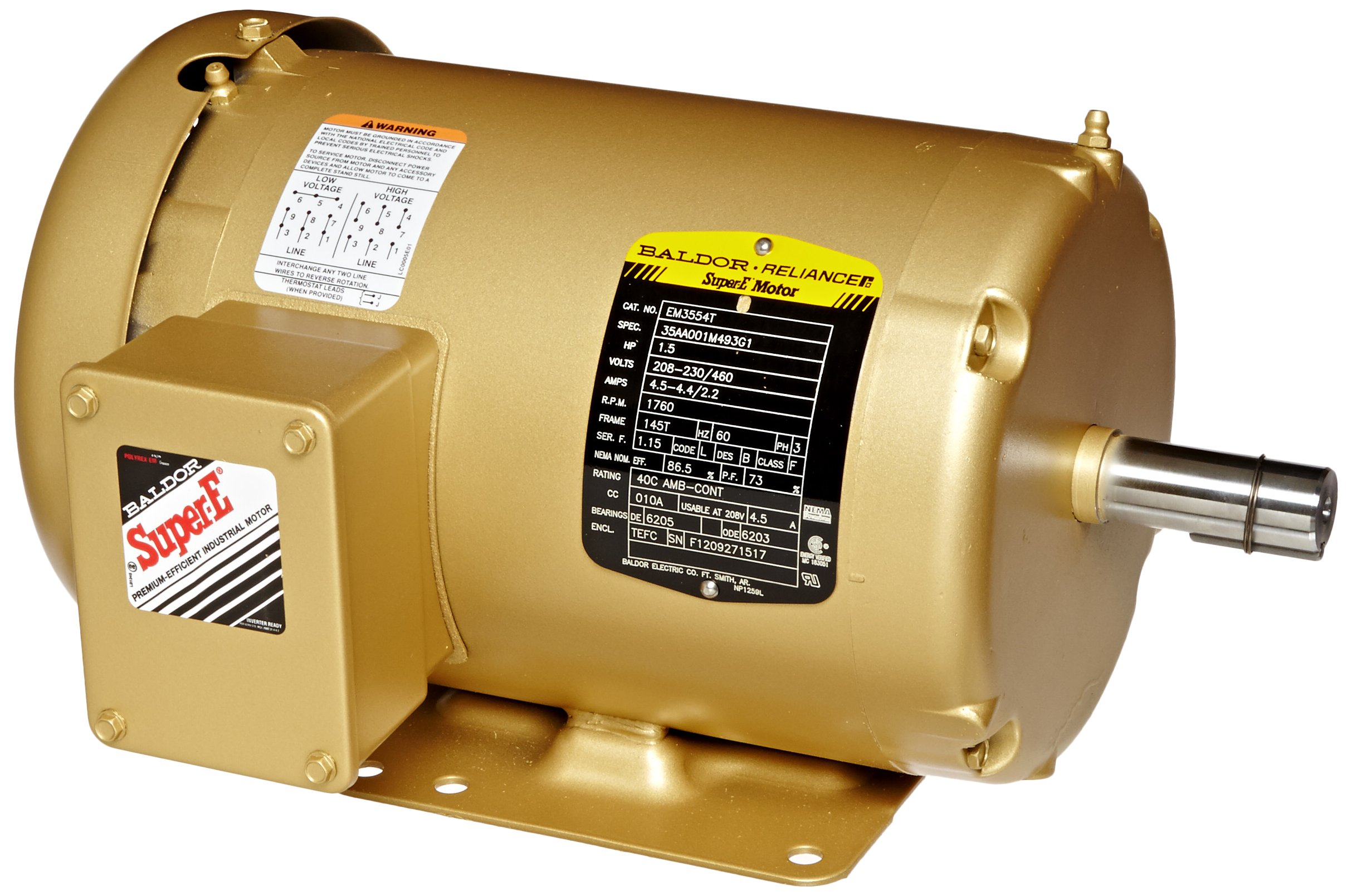 Cheap Baldor 3 Phase Motor Find Deals On Line Wiring Diagram Free Download Get Quotations Em3554t General Purpose Ac 145t Frame Tefc Enclosure