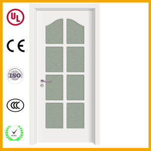 2012 door design Wood Grain House Weld frosted glass interior Bathroom Door designed