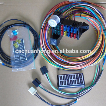 cnch new 14 circuit basic wire kit small wiring harness for rat Auto Wiring Harness Kit cnch new 14 circuit basic wire kit small wiring harness for rat street rod sand car