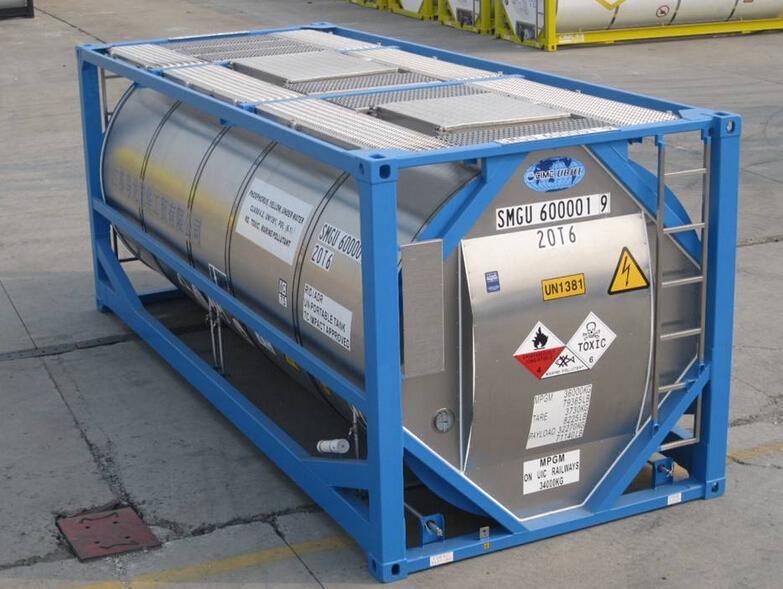 Segunda mano 20ft iso caja m vil contenedor cisterna para - Contenedor maritimo segunda mano ...