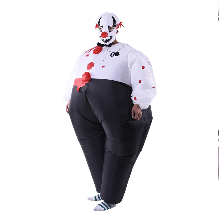Stade Performance Cosplay De Clown Gonflable Costume De Mascotte Pour Les Enfants