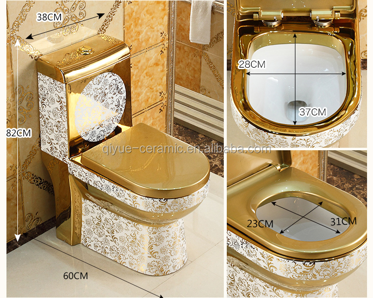 Fashion Bathroom Sanitary Ware Wc Gold Color Toilet Buy Gold