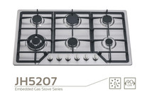 JH5207E Stainless steel Built-In 6 burners cooking/kitchen range,cooker units/gas stove/oven,Kitchen equipment/Cooktops