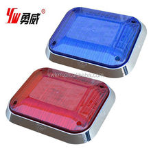 China supplier warning red blue led rectangular strobe big size light for vechiles and cars