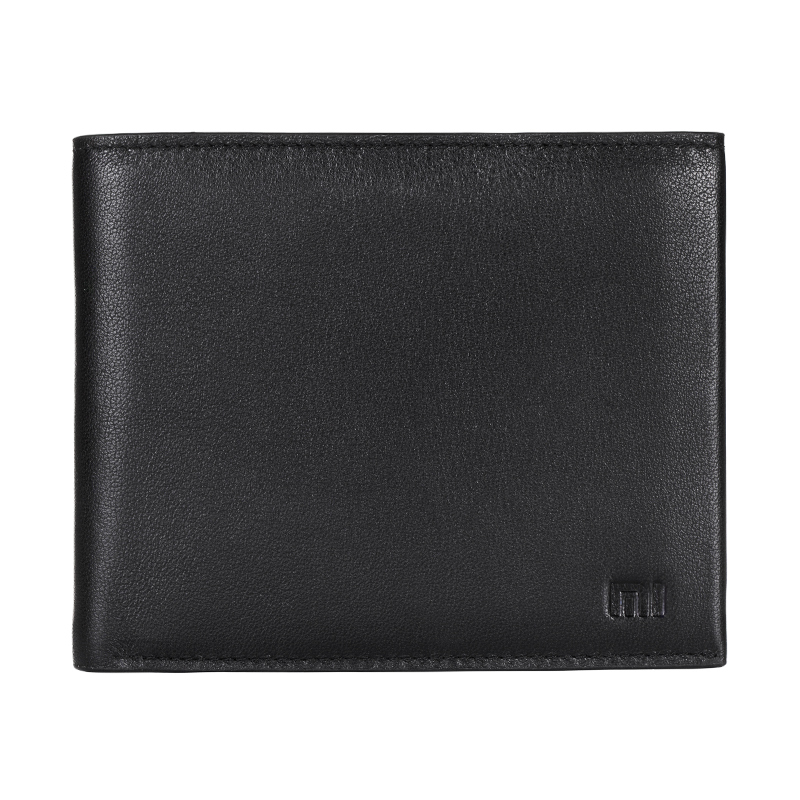 2015 Original Xiaomi Wallet New Mens Trifold Genuine Leather Wallet Case Credit Card Window ID License Black Tri-Fold Wallet