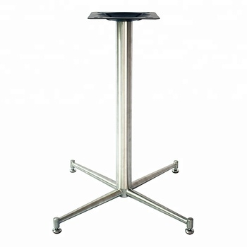 Metal Stainless Steel Cross Pedestal Table Base For Marble Top