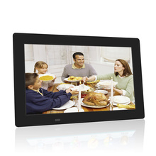 Auto start and playback 12 inch black / white digital photo frame