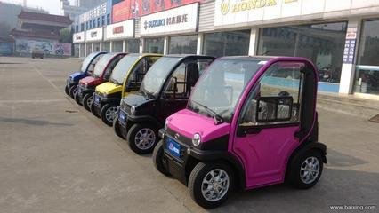 China lithium polymer batteries electric small cars left hand drive two seats AC motor