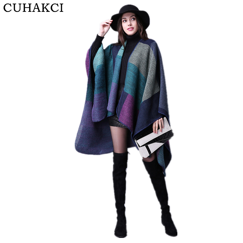 Oversized Warm Shawls Women Winter Brand Striped Scarfs Pashmina Cotton Scarves