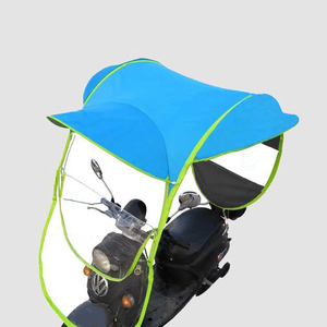Wholesale high quality custom windproof windbreak electric car mobility scooter motorcycle umbrella