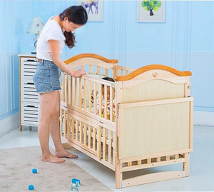 Adult size wooden baby furniture/good quality solid pine wood baby crib bed