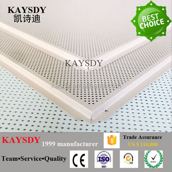 soundproof material lay-in square aluminium suspended ceiling