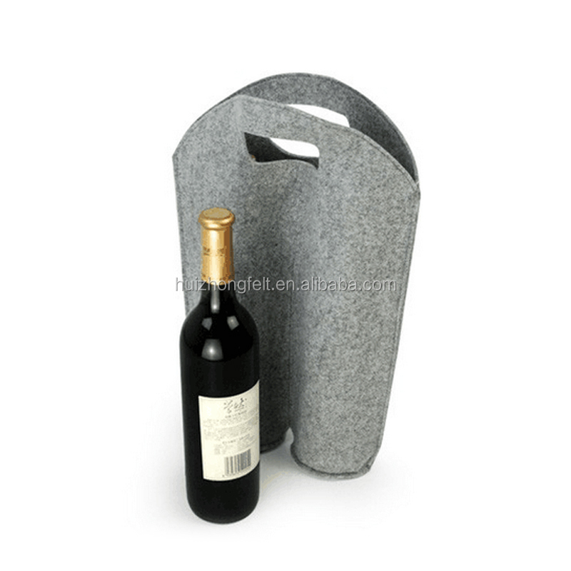 customized felt bottle holder for red wine